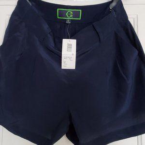 C. Wonder 100% Silk Dressy Navy Blue Shorts Size 6